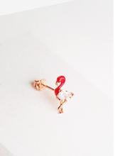 Load image into Gallery viewer, Single Dainty Flamingo Earring
