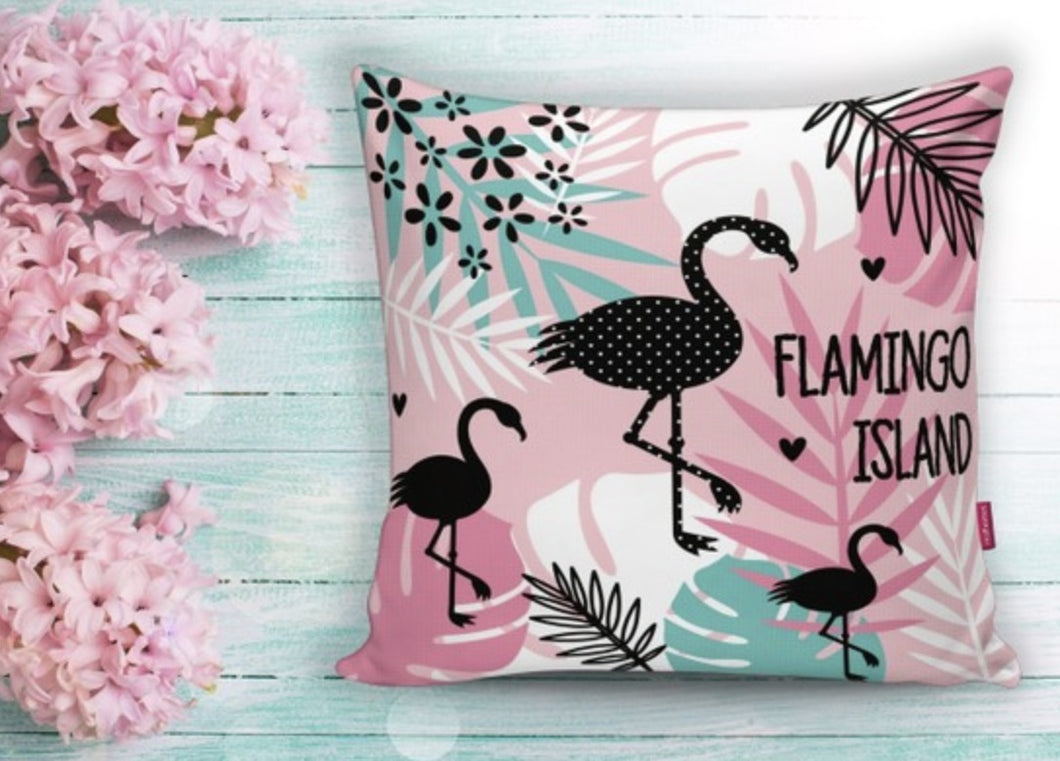 Pink Flamingo Cushion Covers Set of 2 - 18