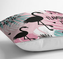 "Load image into Gallery viewer, Pink Flamingo Cushion Covers Set of 2 - 18"" (45cm) Pillow Cushion Covers"