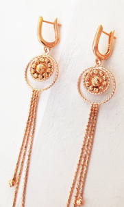 Rose Gold Dangle Dorika Earrings