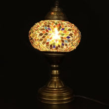 Load image into Gallery viewer, Mosaic Table Lamp - Blue, Green, Yellow & Red