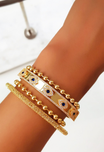 Blue Eye Gold Bracelet