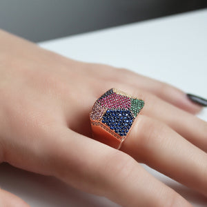 Color Revel Silver Ring