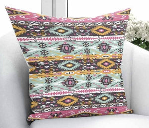 "Pink Turkish Kilim Cushion Cover - 18"" (43cm) Pillow Cushion Cover"