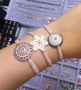 Statement Bracelets With Zirconia