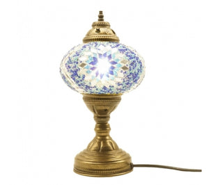 Mosaic Table Lamp (Blue)