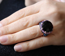 Load image into Gallery viewer, Mega Amethyst Stone Silver Ring