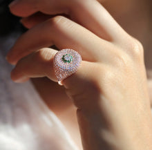 Load image into Gallery viewer, Dainty Pinky Ring With Zircon Stones