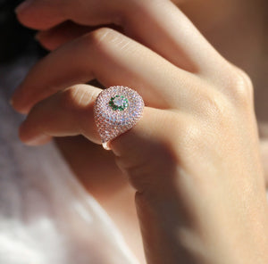 Dainty Pinky Ring With Zircon Stones