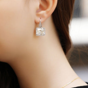 Statement Earrings With  Swarovski Zirconia Stones