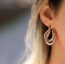 Load image into Gallery viewer, Sterling Silver VIP Baguette Earrings