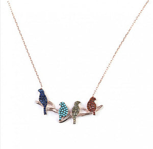 4 Birds Necklace