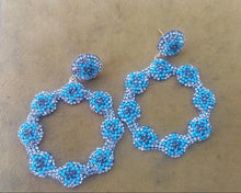 Load image into Gallery viewer, The Turquoise Daisy Earrings With Swarovski Stones