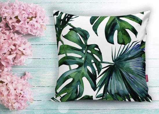Leaf Design Cushion Cover - 17