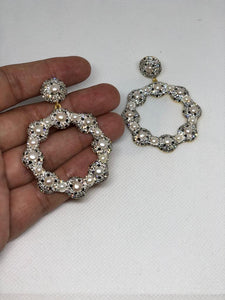 The Silver Daisy Earrings With Swarovski Stones