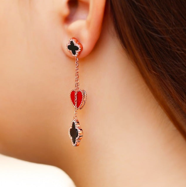 Floral Dangle Drop Earrings