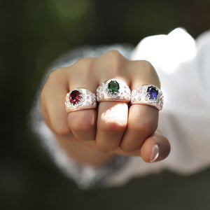 Cocktail Rings With Oval Cut Stone & Swarovski Zirconia Finish