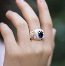 Load image into Gallery viewer, Cocktail Rings With Oval Cut Stone & Swarovski Zirconia Finish
