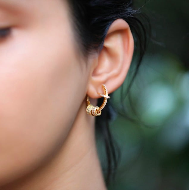 Rose Gold Plating Hoop Earrings