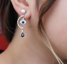 Load image into Gallery viewer, Symbolic Evil Eye Earrings
