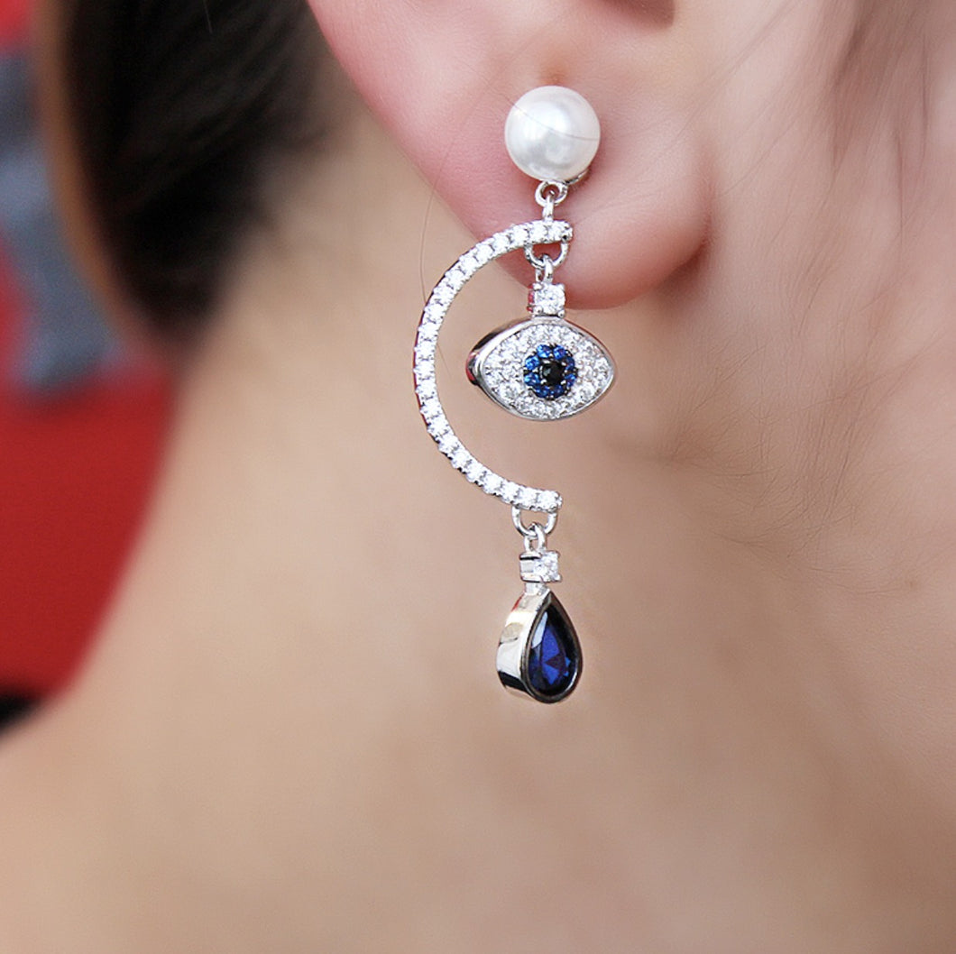 Symbolic Evil Eye Earrings