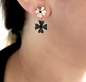 Rose Gold Plating Floral Earrings
