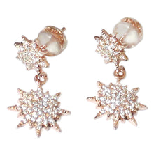 Load image into Gallery viewer, Rose North Star Earrings