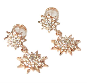Rose North Star Earrings