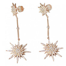 Load image into Gallery viewer, Large Rose North Star Earrings