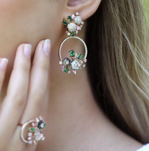 Rose Gold Blossoming Earrings | Italian Design