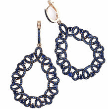 Load image into Gallery viewer, 925 Sterling Silver Blue Statement Earrings