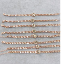 Load image into Gallery viewer, Rose Gold Initial Bracelet