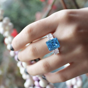 Light Blue Cocktail Ring