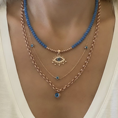 Evil Eye Necklaces Combine