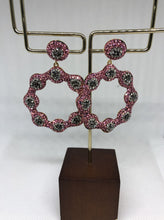 Load image into Gallery viewer, The Pink Silver Daisy Earrings