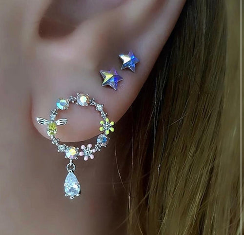 Colourful Flowery Earrings