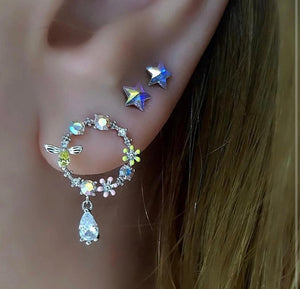 Colourful Star Earrings