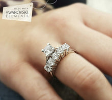 Load image into Gallery viewer, Swarovski Attract Ring Set