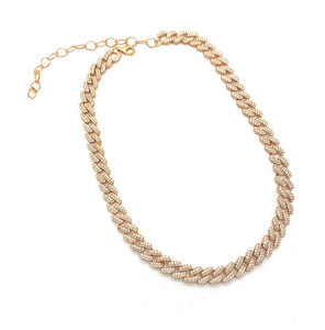 Chain Choker With Zirconia Stones