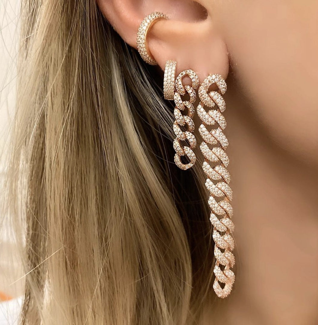 Rose Gold Plating Statement Earrings