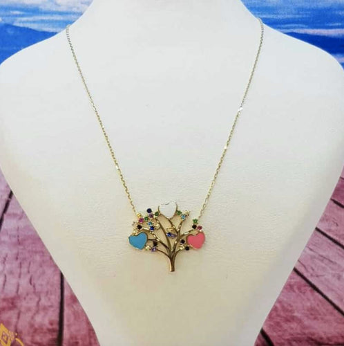 14ct Gold Tree Necklace