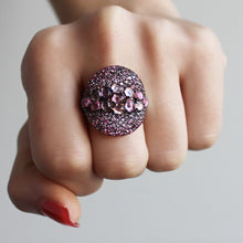 Load image into Gallery viewer, Amethyst - Purple Stone Silver Ring
