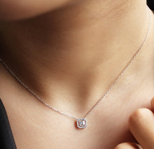 Load image into Gallery viewer, Delicate Baguette Silver Necklace