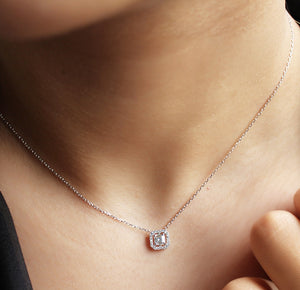 Delicate Baguette Silver Necklace