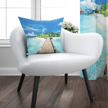 "Load image into Gallery viewer, Beach View Cushion Cover - 17"" (45cmX45cm) Pillow Cushion Cover"