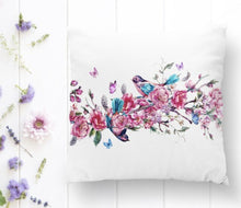 "Load image into Gallery viewer, Bird & Roses Printed Cushion  Covers - 18"" (43cm) Pillow Cushion Cover"