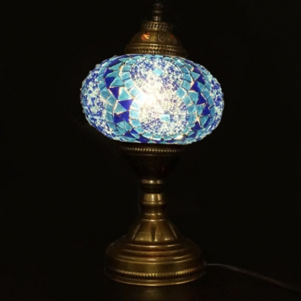 Mosaic Table Lamp, Blue