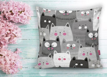Load image into Gallery viewer, Cat Prınted Cushion Covers - 43X43cm Home Sofa Bedding Decor