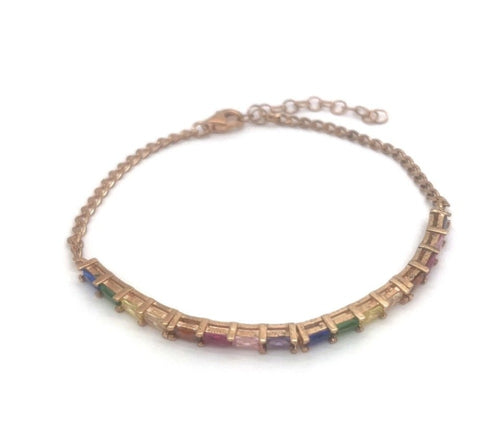 Colourful Baguette Bracelet