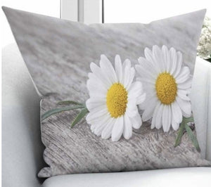 "Daisy Cushion Cover - 17"" (45cmX45cm) Pillow Cushion Cover"